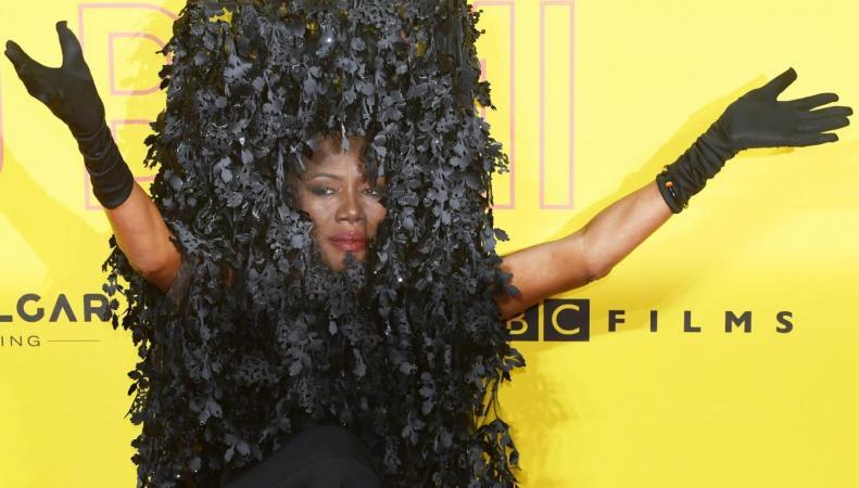 Американская знаменитость нарядилась кустом на прием в Британском институте кино фото:standard.co.uk