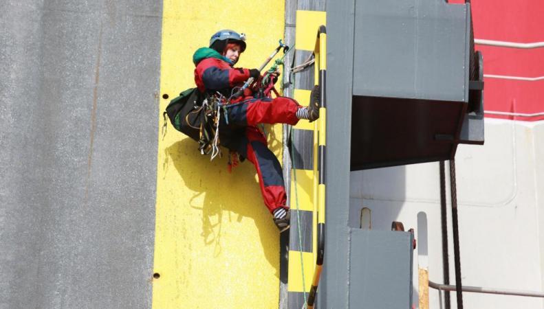 Активисты Greenpeace атаковали в Кенте корабль с дизельными автомобилями  фото:independent