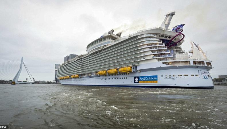 Первое путешествие лайнера Harmony of the Seas завершилось скандалом фото:dailymail.co.uk