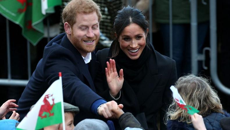 Принц Гарри и Меган впервые вместе посетили Кардифф