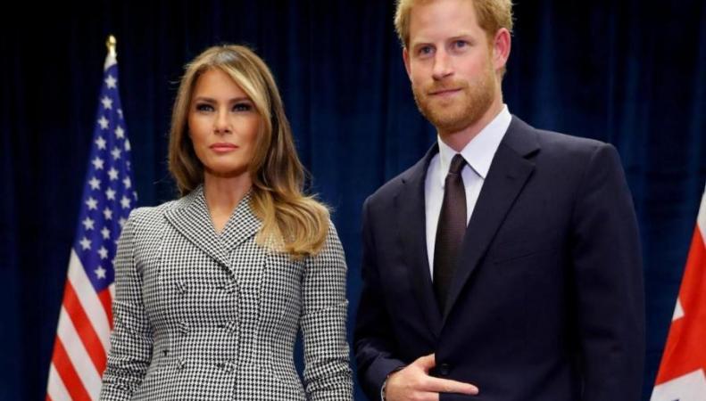Принц Гарри встретился с Меланией Трамп в Канаде фото:standard.co.uk