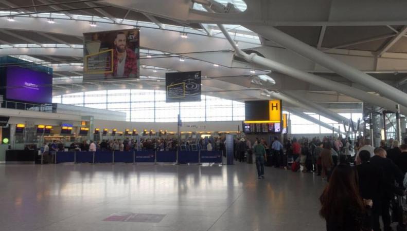 Мужчина схвачен ваэропорту Хитроу поподозрению втерроризме