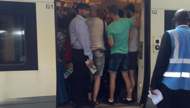 Машинисты поездов Southeastern не заметили рекордного тепла в городе фото:standard.co.uk