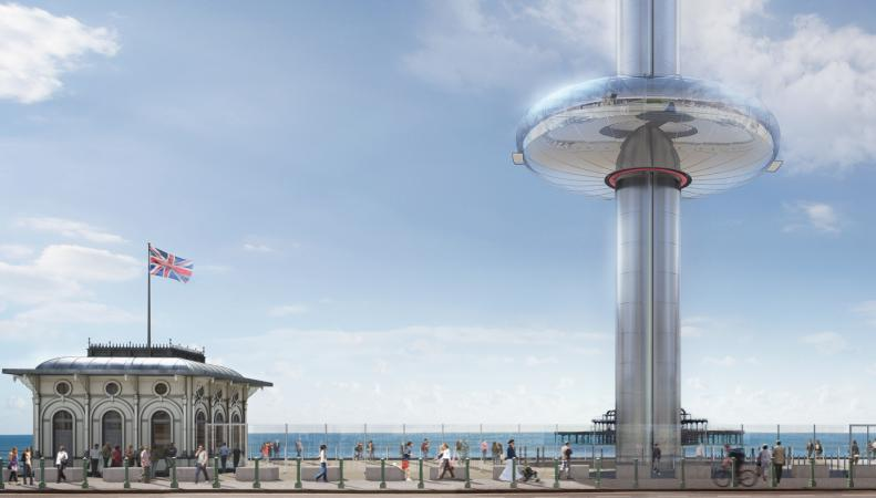 В Брайтоне открылась самая высокая в мире подъемная обзорная платформа  фото:cnn