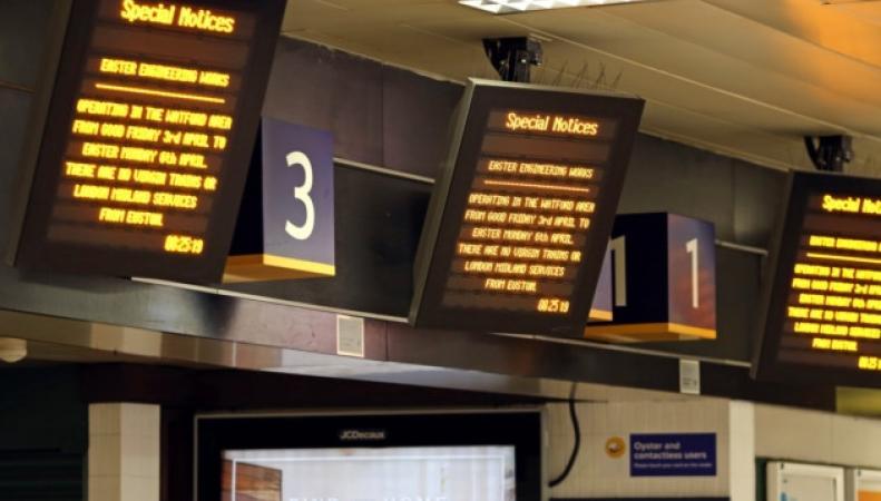 Табло на лондонском вокзале