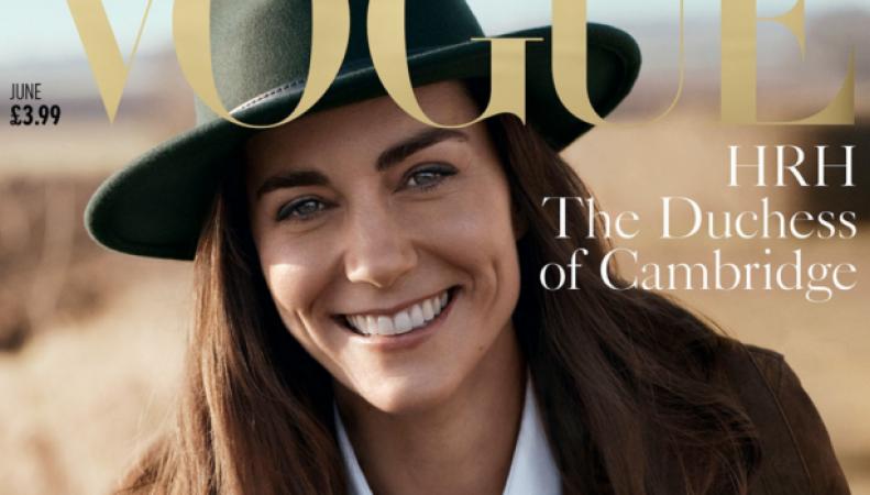 Герцогиня Кейт станет лицом юбилейного выпуска британского Vogue фото:vogue.uk