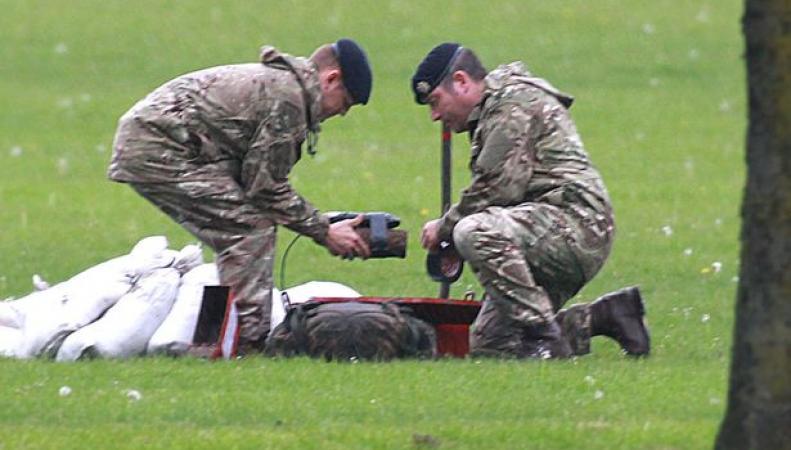 Бомба Первой Мировой войны найдена и обезврежена в Ливерпуле фото:mirror.co.uk
