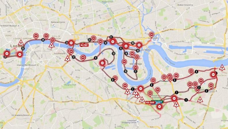 Схема Лондонского Марафона