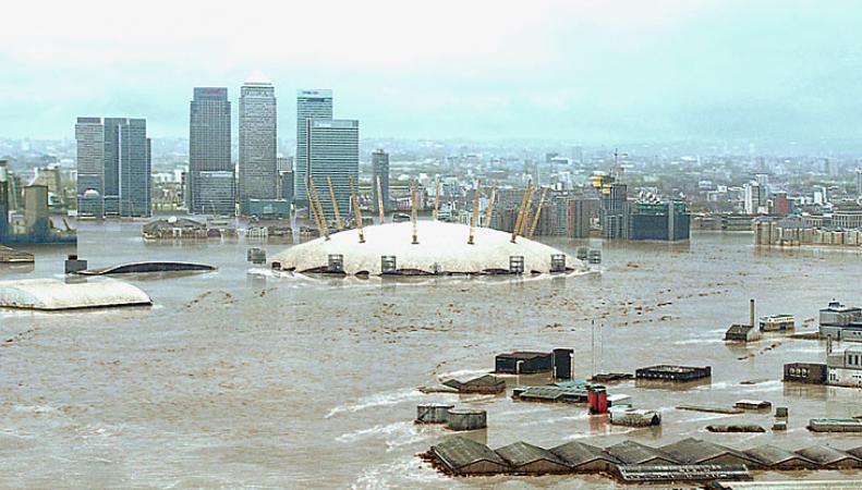 Катастрофическое наводнение для трёх стран прогнозируют в Великобритании