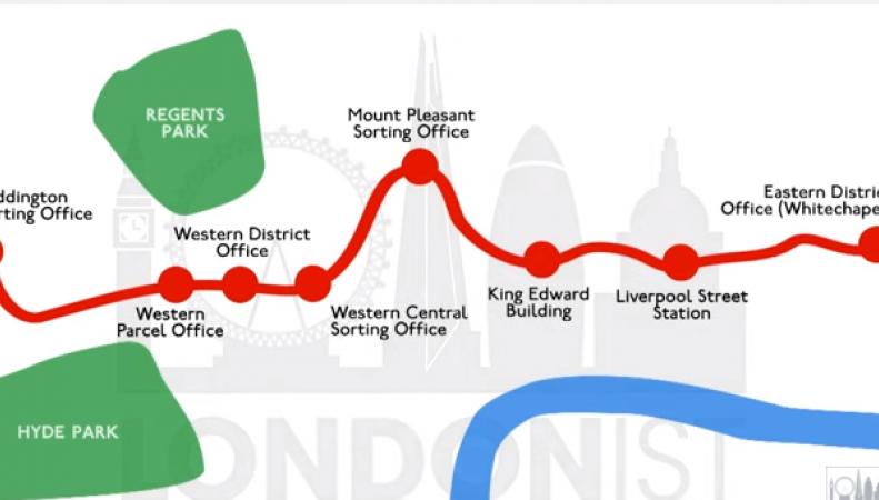 карта Почтовой железной дороги