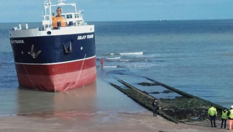 Корабль в Маргите едва не уничтожил произведение современного искусства