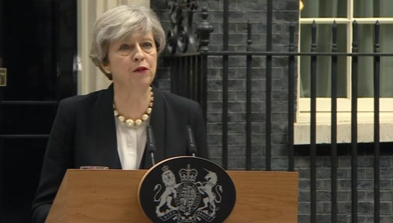 Тереза Мэй выступила с обращением к нации после теракта в Манчестере