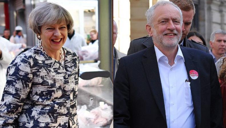 Последний день предвыборной агитации: Какие карты разыграют Мэй и Корбин фото:bbc