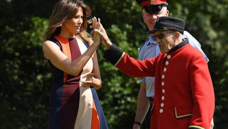 Мелания Трамп сыграла в кегли с ветеранами Королевского госпиталя в Челси