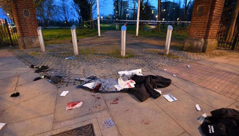В Лондоне зафиксировано шесть нападений с ножом за полтора часа
