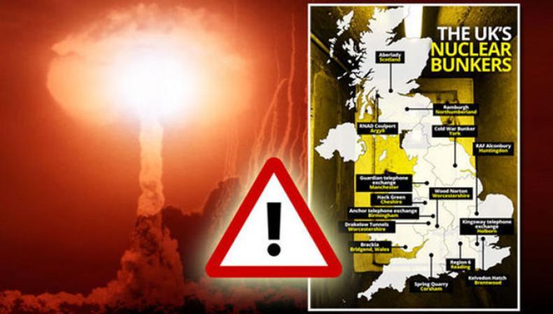Британские СМИ опубликовали карту ядерных бункеров