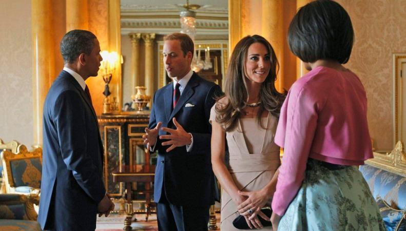 супруги Кембриджские и супруги Обама в 2011 году