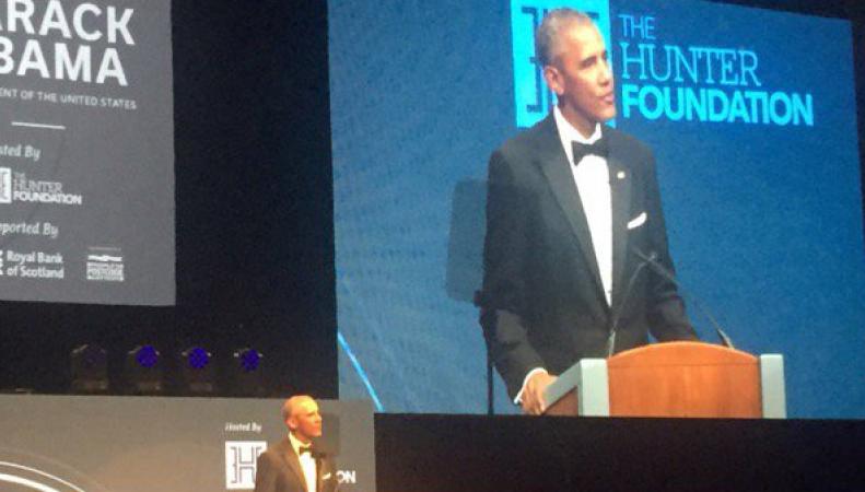 Барак Обама провел благотворительный ужин в Эдинбурге