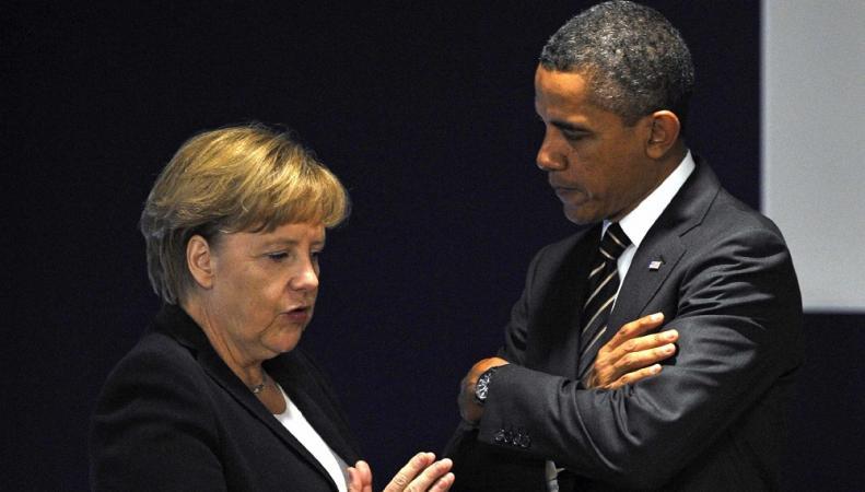 Обама потребует от Меркель усилить сдерживание России