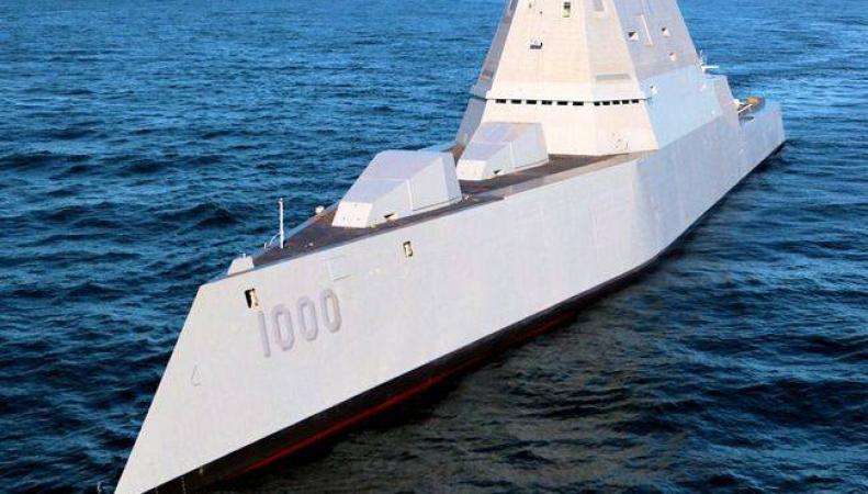 Суперсовременный американский эсминец Zumwalt