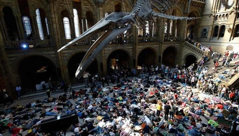 Экологические активисты устроили флэшмоб в Музее Естествознания