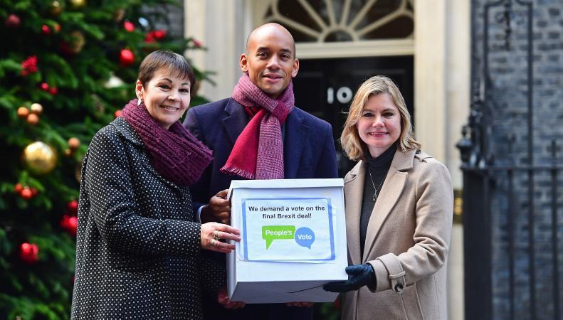 Петиции с требованием повторного референдума по Брекзиту доставлены на Даунинг-стрит