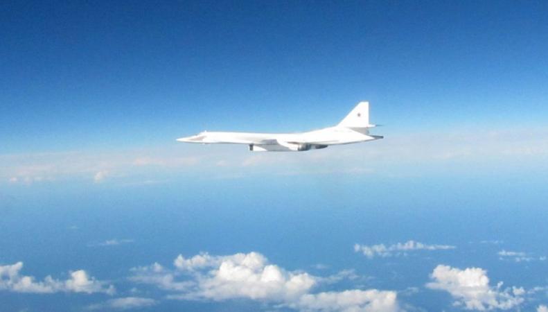 Российские бомбардировщики перехвачены Королевскими ВВС у границ Шотландии фото:skynews