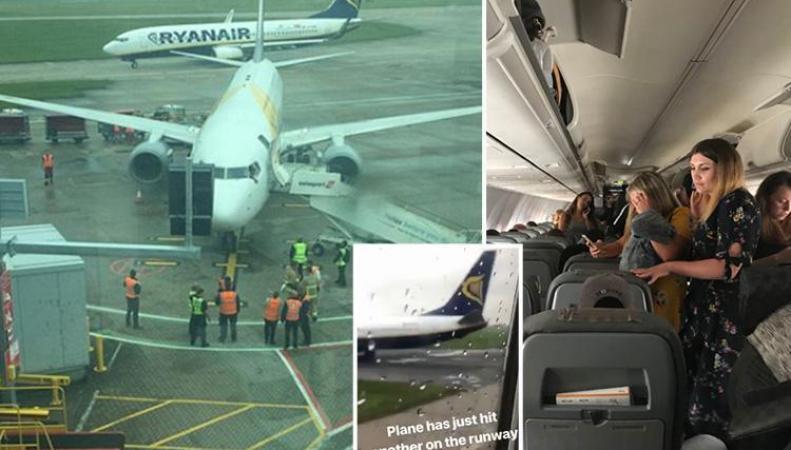 В аэропорту Станстед столкнулись два самолета