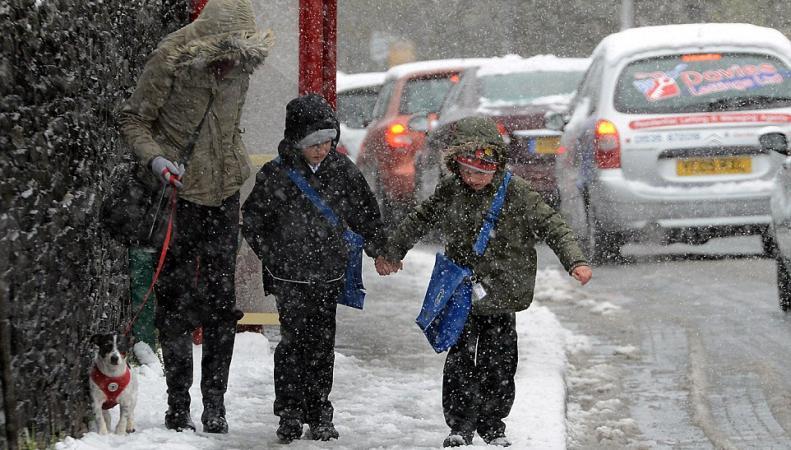 Погода в Англии: снег в конце апреля