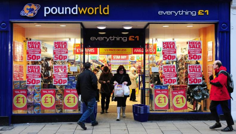 Сеть бюджетных магазинов Poundworld перестала отвечать своему названию фото:standard.co.uk