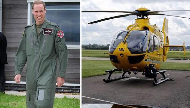 Принц Уильям  увольняется из медицинской авиации ради службы короне фото:express.co.uk