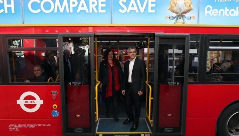 В Лондоне введена в действие первая «зеленая автобусная зона» фото:standard.co.uk