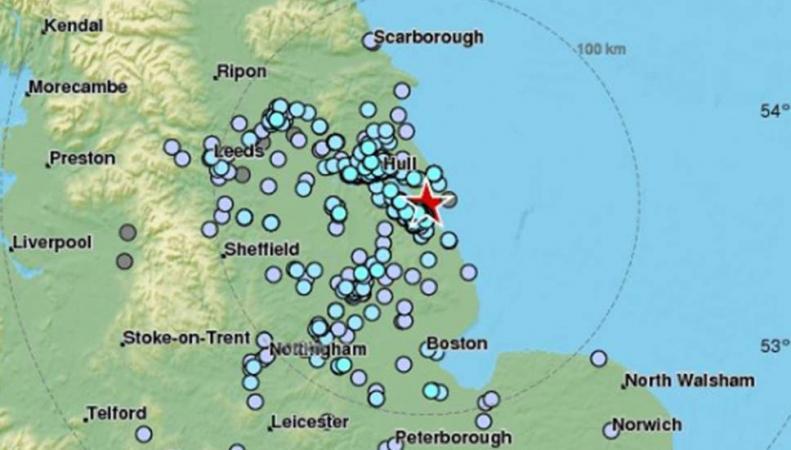 В Северном Йоркшире произошло землетрясение