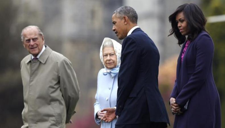 Королева Елизавета II и Барак Обама