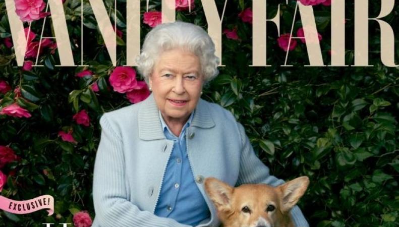 Июньский номер Vanity Fair вышел с новым портретом королевы на обложке фото:bbc.com
