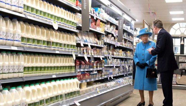 Королева Елизавета II посетила экспериментальный городок Паундбери фото:thesun.co.uk