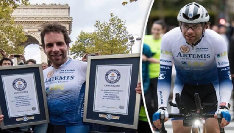 Британец установил новый мировой рекорд по велоспорту