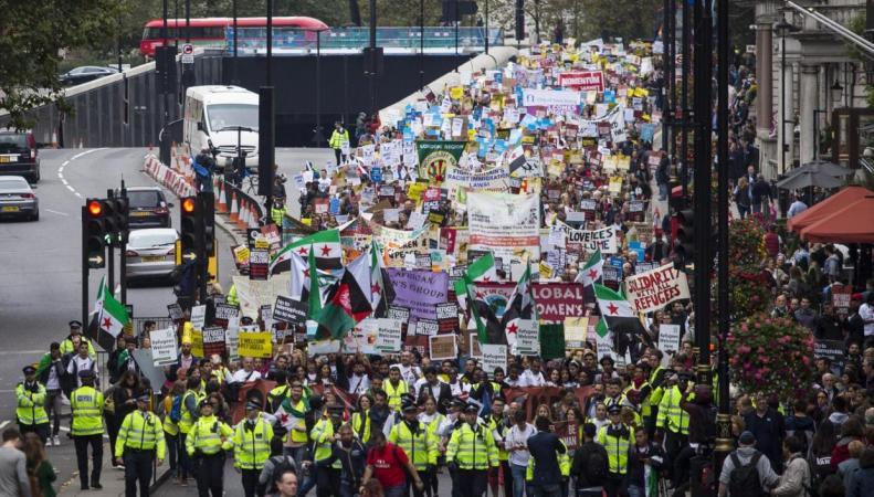 В Лондоне прошел марш в поддержку беженцев фото:standard.co.uk