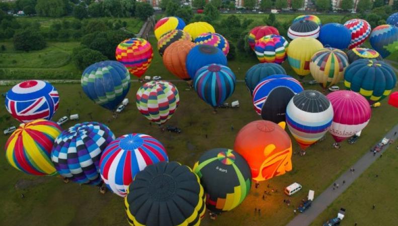 Воздушное представление Hot Air Balloon Regatta состоялось в Лондоне фото:bt.com