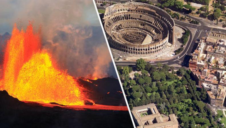 Рим под угрозой уничтожения из-за извержения вулкана