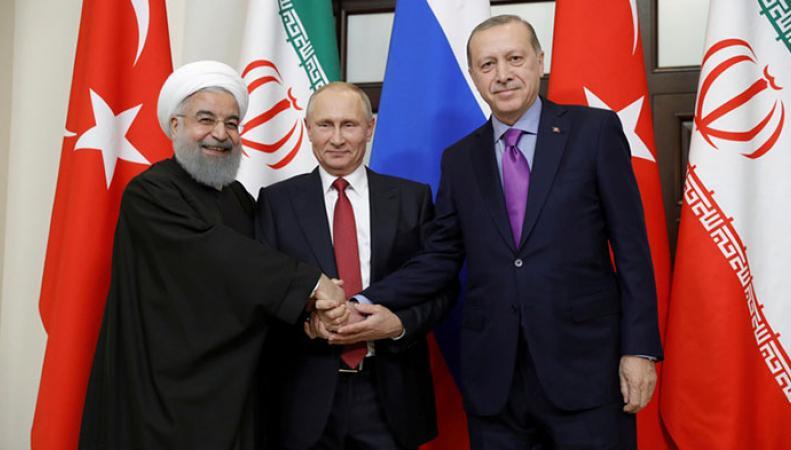 Запад оценил встречу президентов России, Ирана и Турции