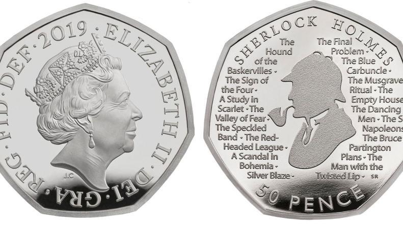 Королевский монетный двор выпустил монету в честь Шерлока Холмса