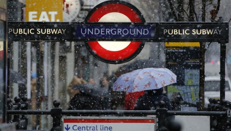 MetOffice предупреждает о сильной гололедице в Лондоне