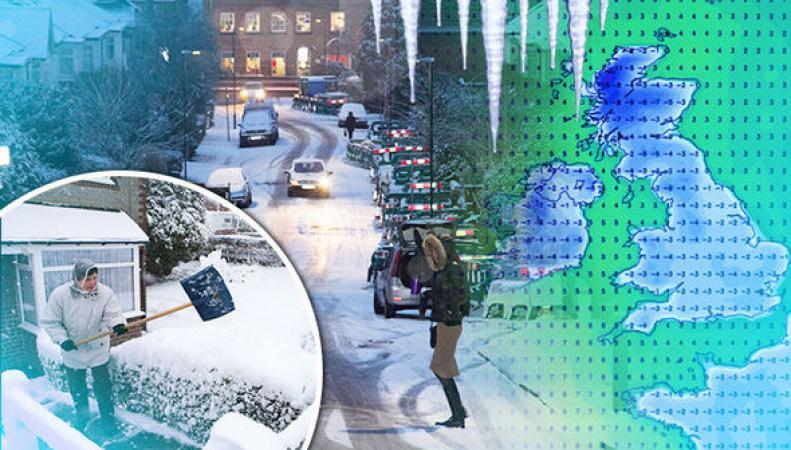 Британию ждет сильный снегопад, четырехнедельное похолодание до -15°С.