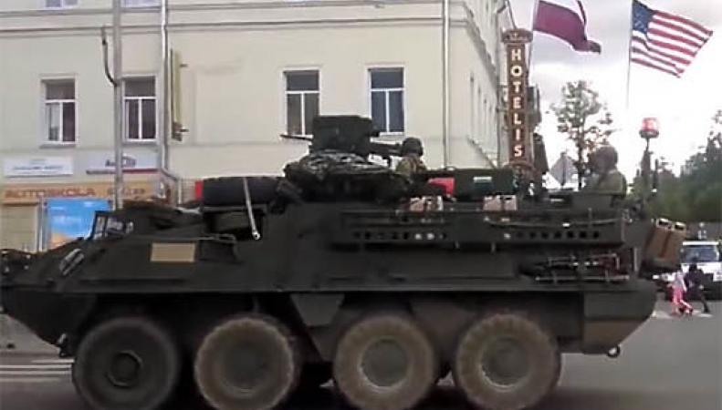 Солдаты НАТО в Риге