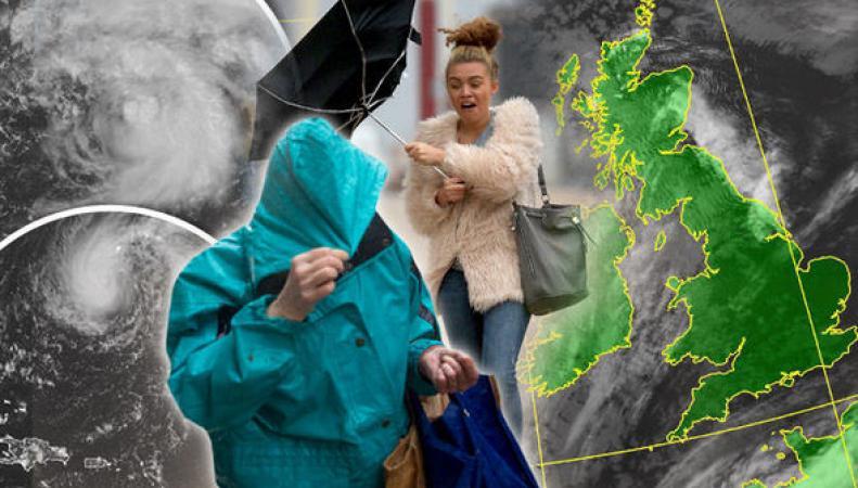 Столкновение двух атлантических штормов принесет ураганный ветер в Великобританию фото:express.co.uk