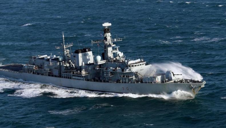 Российский военный корабль вошел в Ла-Манш под надзором британских ВМС фото:telegraph.co.uk