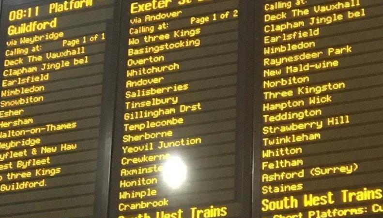 Железнодорожный оператор South West Trains переименовал вокзалы фото:standard.co.uk