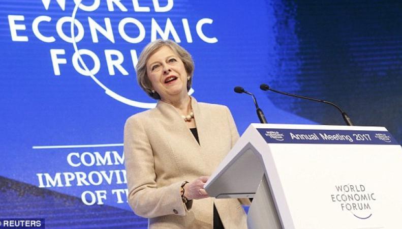 Тереза Мэй не смогла защитить Brexit перед бизнес-элитой в Давосе фото:dailymail.co.uk