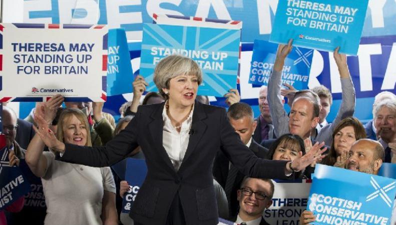 Тереза Мэй посетила Шотландию на завершающем этапе предвыборной борьбы фото:stv